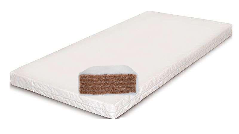 Kókuszbetét huzattal 160x80x6 cm