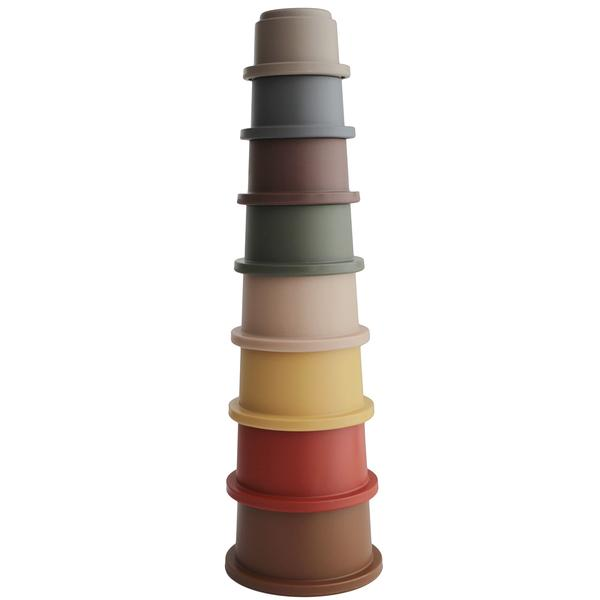 MUSHIE építő poharak (retro színek)
