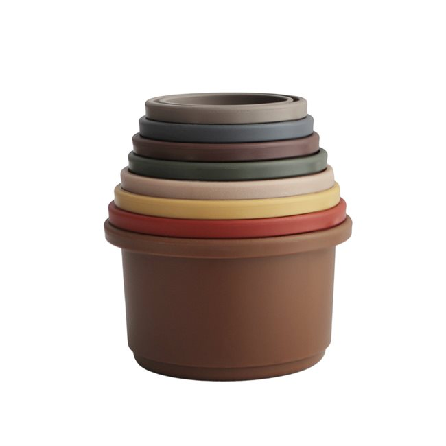 Építő poharak retro színek